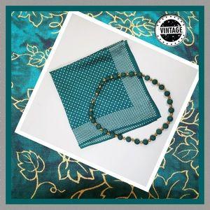 🎭 Vintage Handkerchief & Necklace
